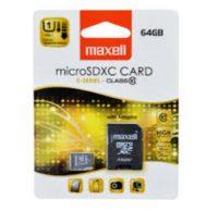 MAXELL MICRO SDHC +ADAPTOR MUISTIKORTTI 64GB