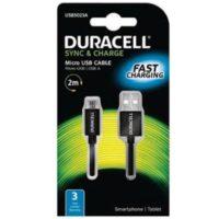 DURACELL USB – MICRO USB JOHTO MUSTA 2M
