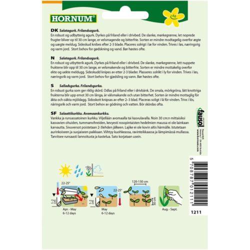 HORNUM KURKKU, SALAATTI-, AVOMAAN- BURPLESS TASTY GREEN FI