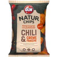 OLW NATUR CHIPS CHILI & CREAM FRAICHE 150 G